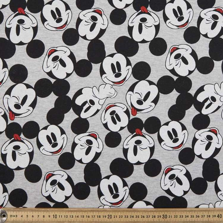 Mickey Mouse Head Brushed Fleecey Fabric