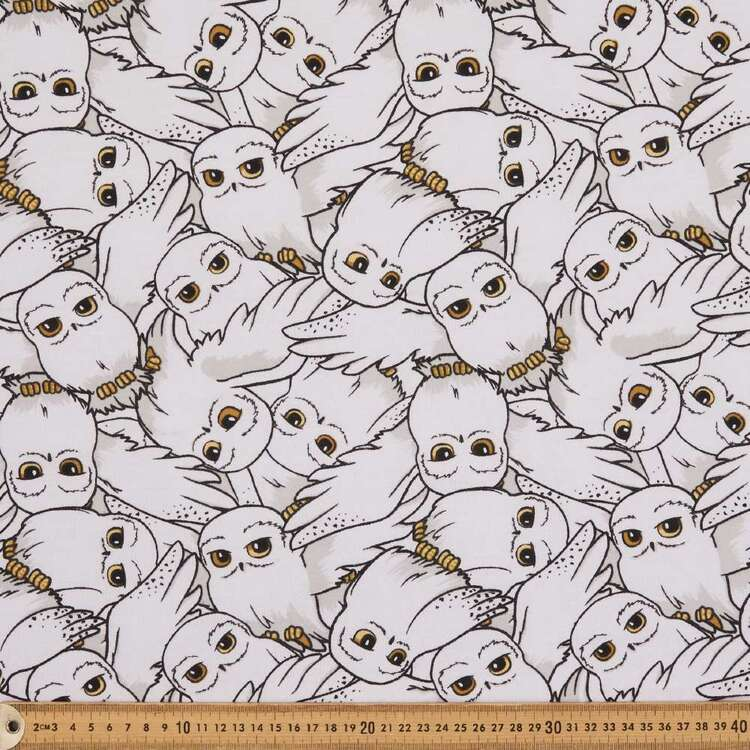 Harry Potter Hedwig Brushed Fleecey Fabric
