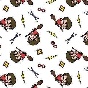 Harry Potter Charms Cotton Duck Fabric
