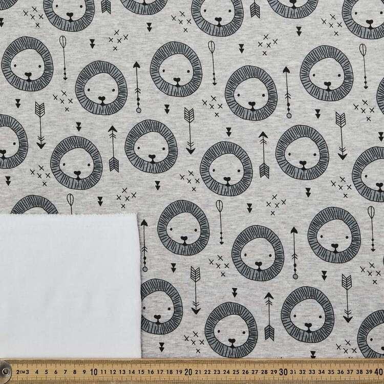 Lion Printed 150 cm Alpine Fleecy Fabric