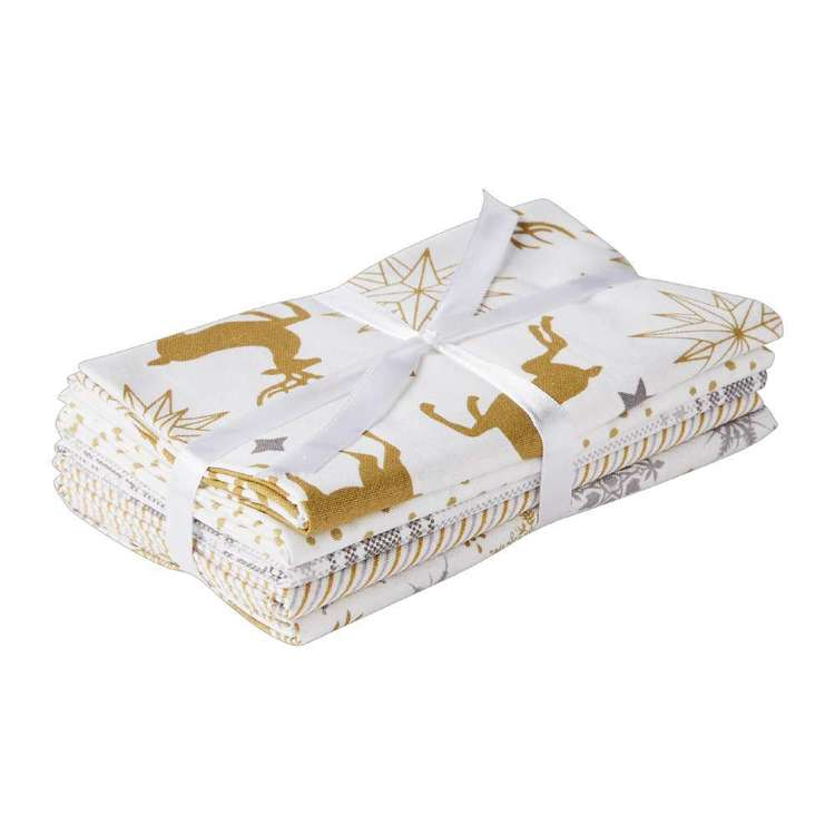 Metallic Silver & Gold 5 Piece Flat Fat Bundle