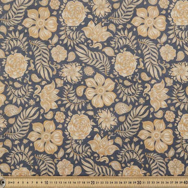 Fern Digital Printed 112 cm Cotton Linen Fabric