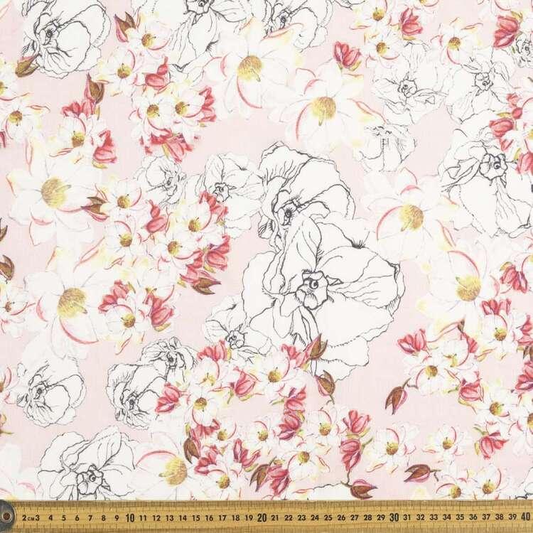 Daisy Dream Digital Printed 112 cm Cotton Linen Fabric
