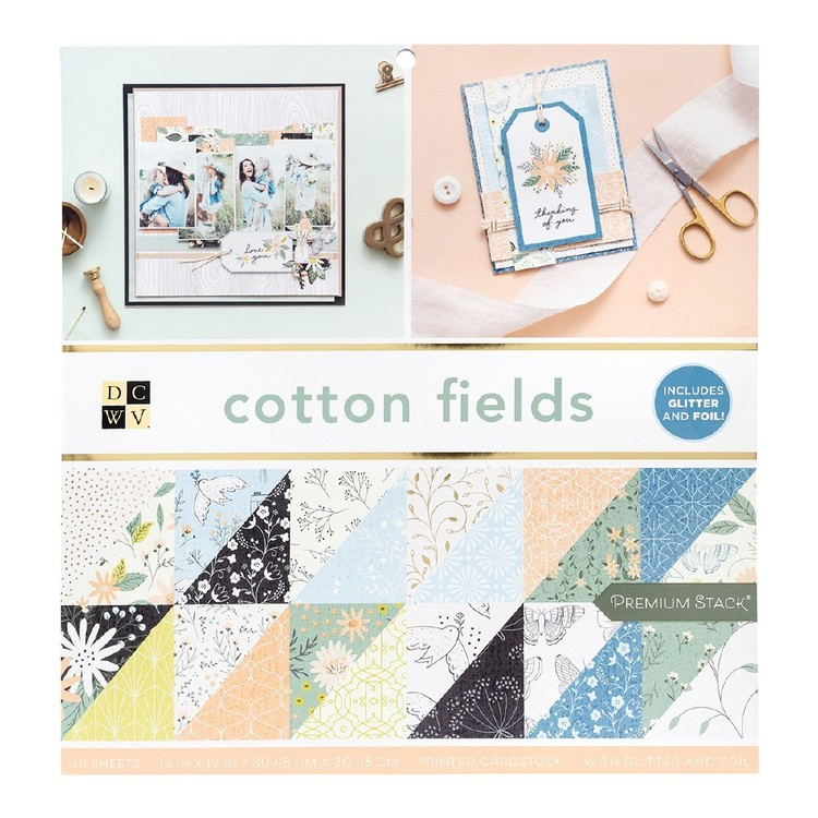 Die Cuts With A View Cotton Fields Paper Pad
