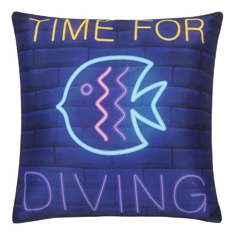 Ombre Blu Neon Reef Cushion