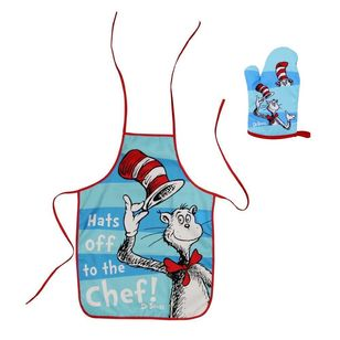 Hot Topic Dr. Seuss Kids Apron & Oven Mitt Set
