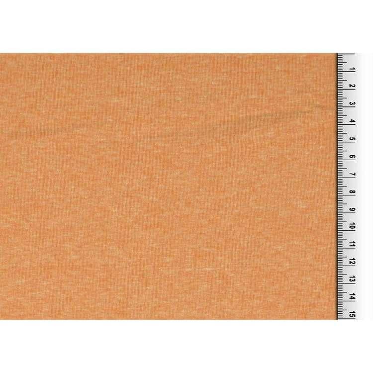 Plain Cotton Polyester 142 cm Melange Jersey Fabric