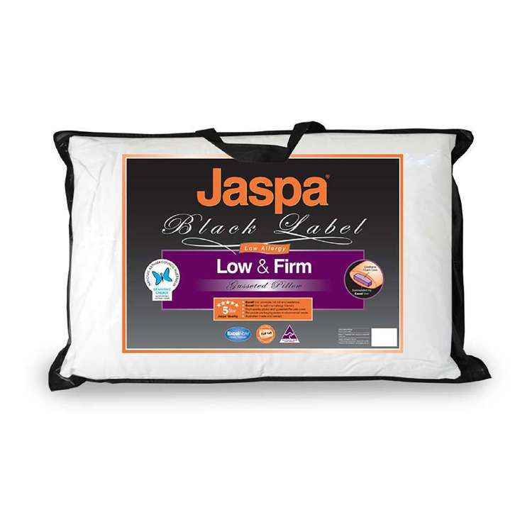 Jaspa Black Low/Firm Gusseted Pillow