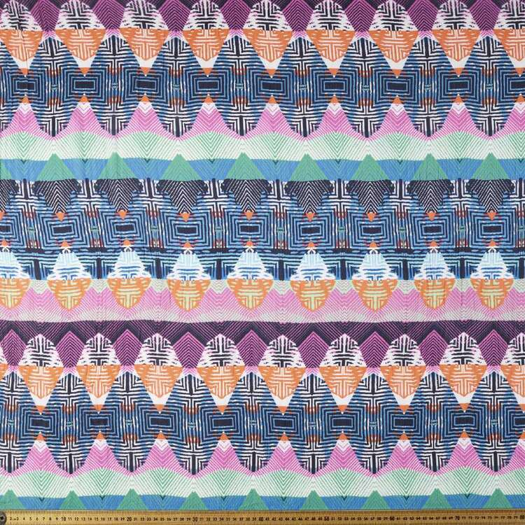 Aztec Printed 112 cm Viscose Crush Satin Fabric