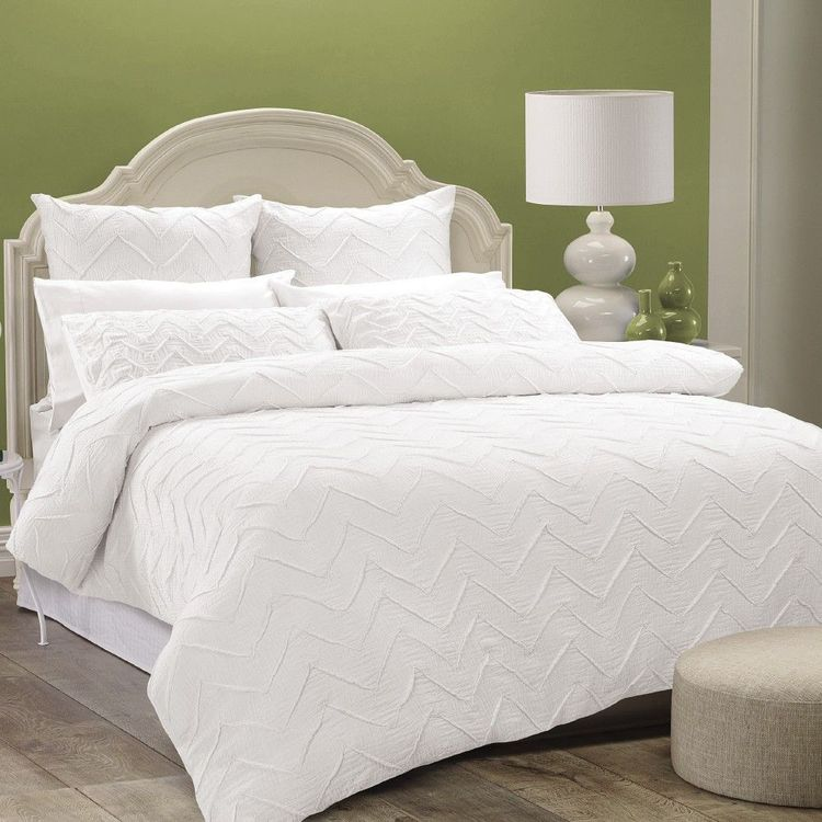 White Home Anthea Quilt Cover Set