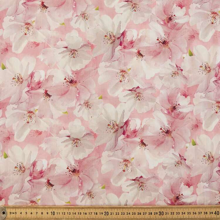 Brier Rose Digital Printed 135 cm Cotton Lawn Fabric
