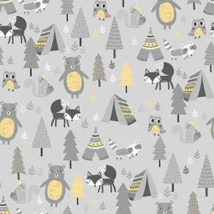 Timber Pals Printed 112 cm Flannelette Fabric
