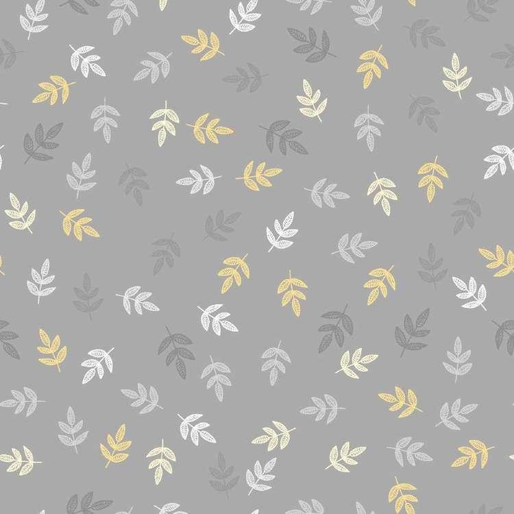 Leaves Printed 112 cm Flannelette Fabric