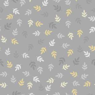 Leaves Printed 112 cm Flannelette Fabric
