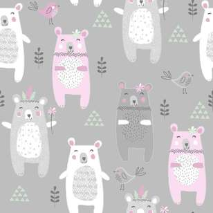 Bears Printed 112 cm Flannelette Fabric