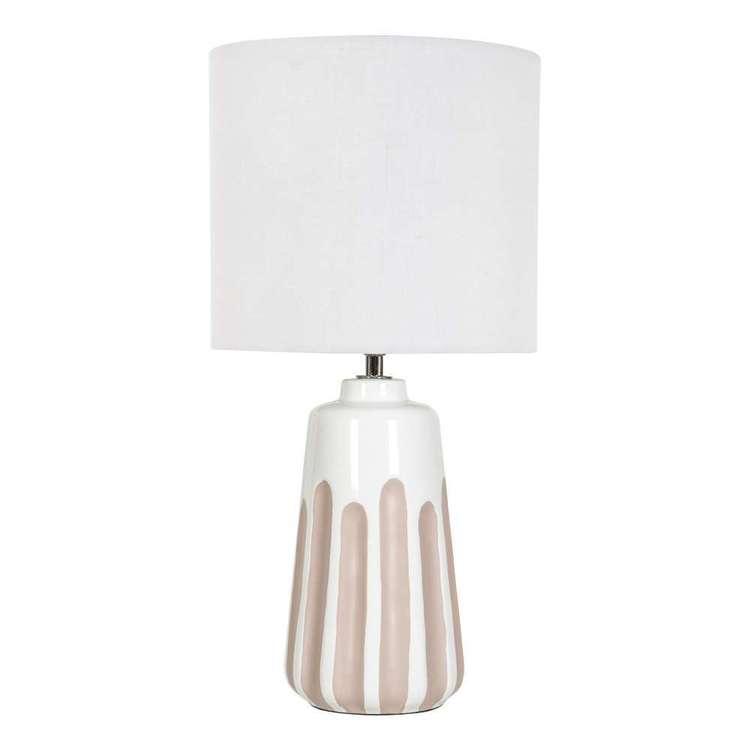 Ombre Lolita Ceramic & Linen Table Lamp