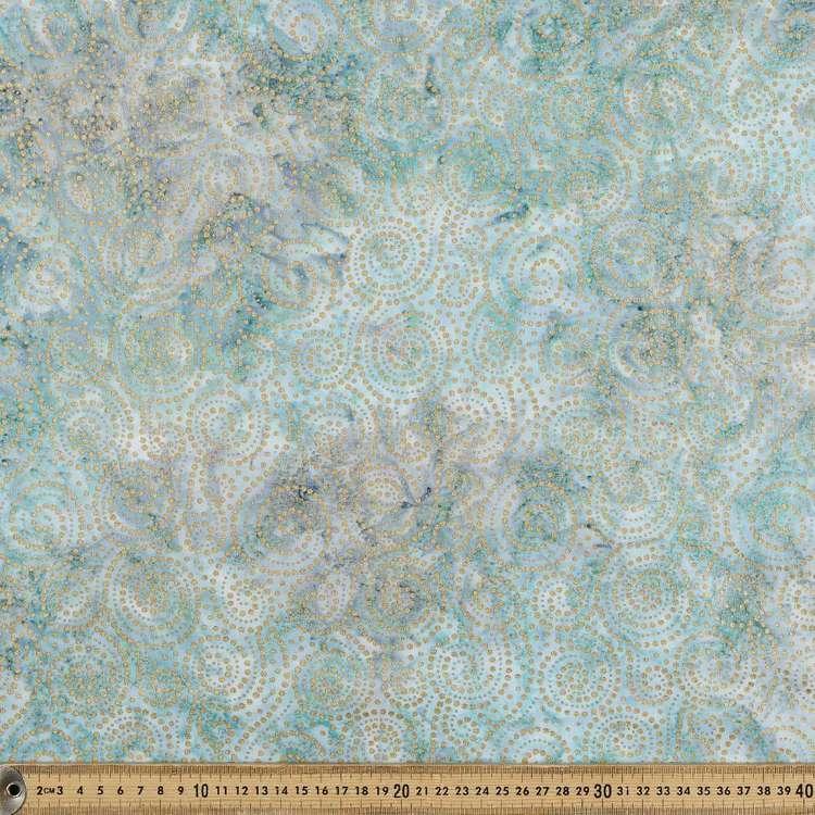 Indonesian Batik Metallic Swirls