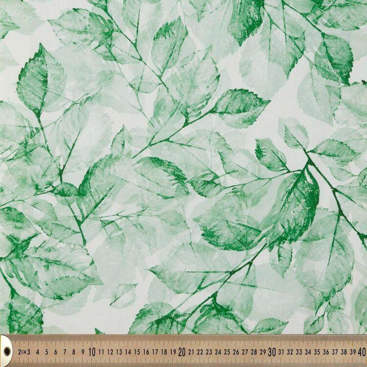 Leaf Stamp Printed 145 cm Valdez Poly Sateen Fabric