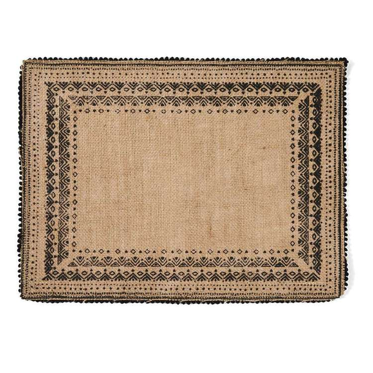 Ombre Home Wandering Nomad Artisan Soul Placemat With Pom Pom