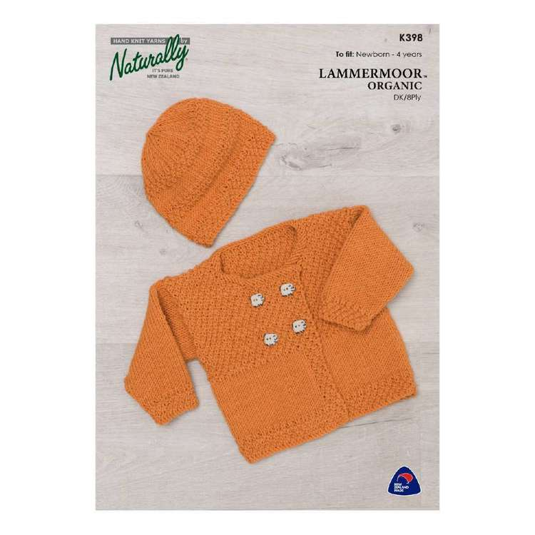 Naturally Lammermoor Organic 8 Ply K398 Pattern Leaflet