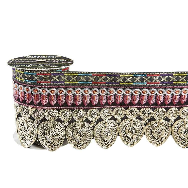 Eclectic Treasures Heavy Embroidered Scalloped Braid