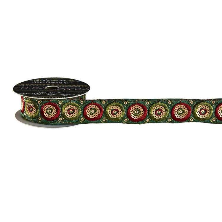 Eclectic Treasures Embroidered Circle Braid