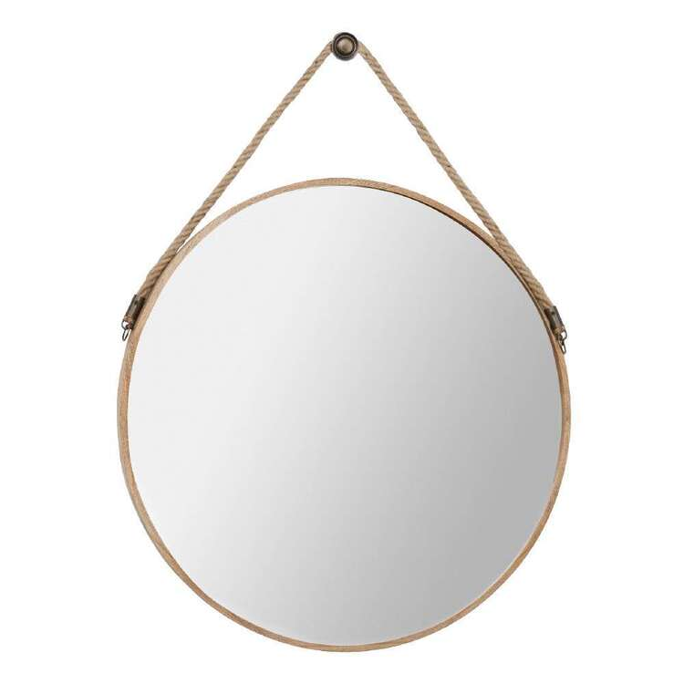 Bouclair Casual Spirit Round Rope Mirror Clear 60 cm
