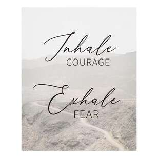 Bouclair Casual Spirit Inhale Exhale Wall Art