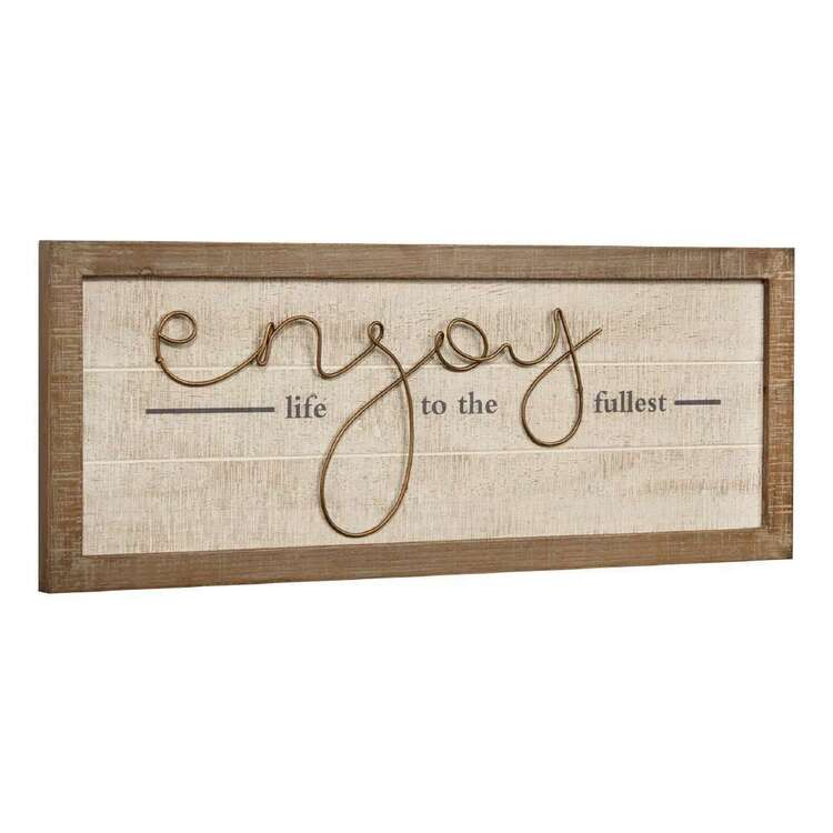 Bouclair Casual Spirit Enjoy Life Wall Art