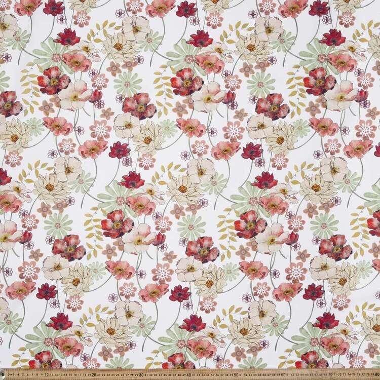 Poppy Digital Printed 148 cm Cotton Linen Fabric