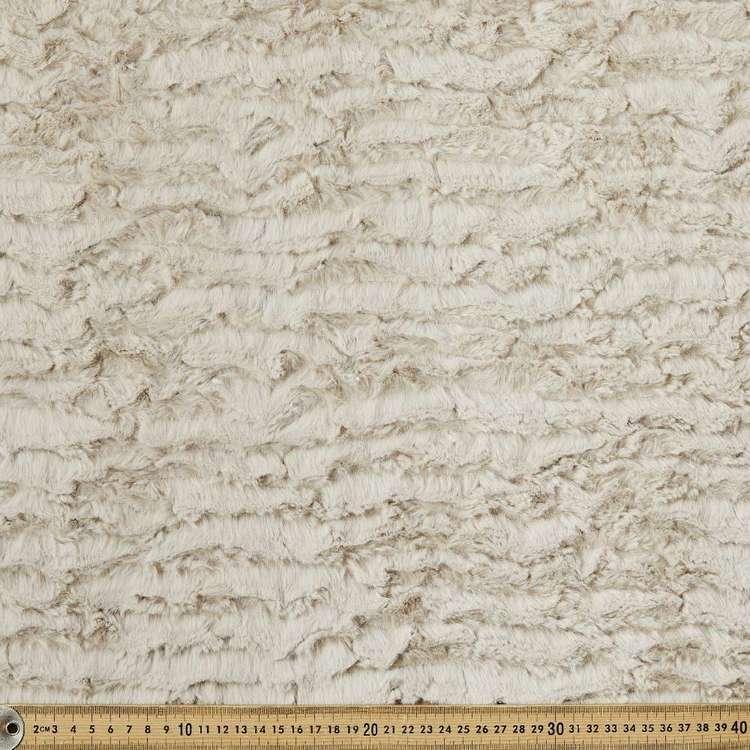 Plain 150 cm Wave Fashion Fur Fabric