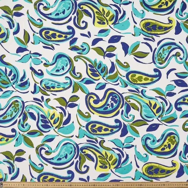 Leaf Printed 145 cm Oriental Slub Crepe G4 Fabric