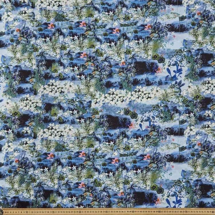 Island Printed 145 cm Oriental Slub Crepe G5 Fabric