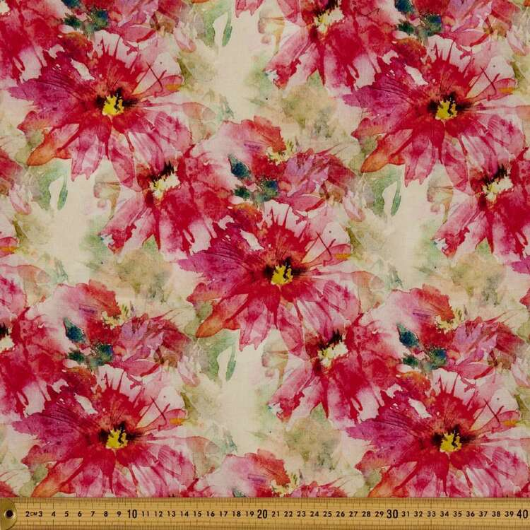 Burst Digital Printed 148 cm Cotton Linen Fabric
