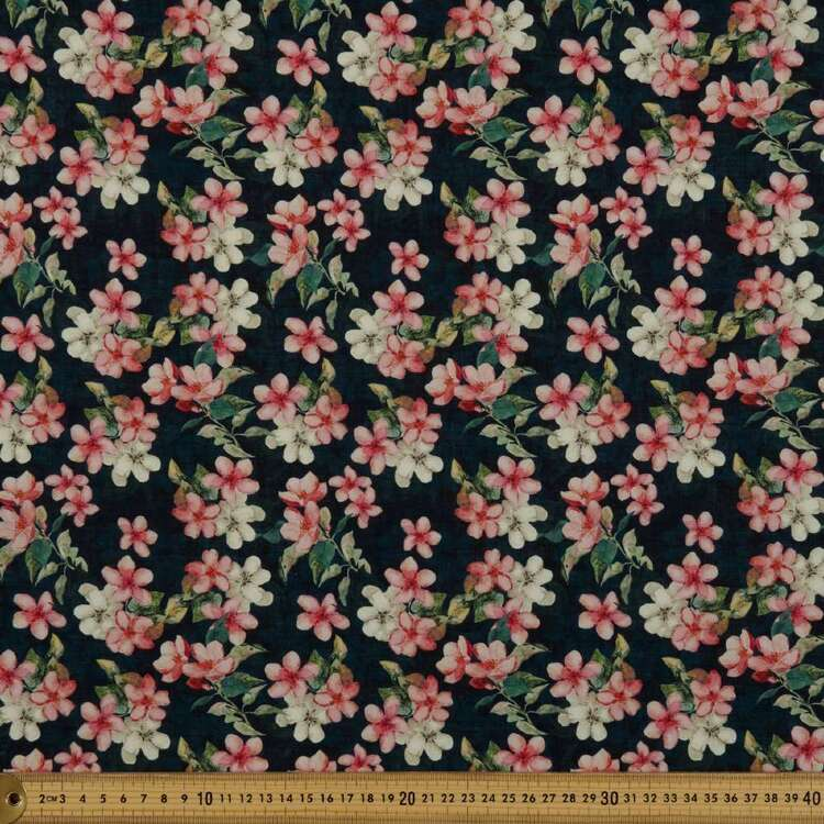 Blossom Digital Printed 148 cm Cotton Linen Fabric