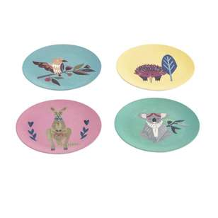 Ombre Home Australiana Native Friends Set Of 4 Plates