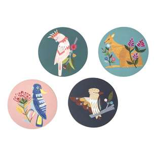 Ombre Home Australiana Fauna Set Of 4 Coasters