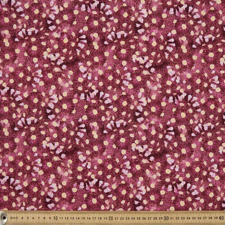 Anne Waters Gum Blossom Cotton Fabric Crimson 112 cm