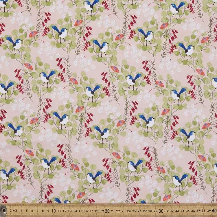 Anne Waters Splendid Blue Wren Cotton Fabric