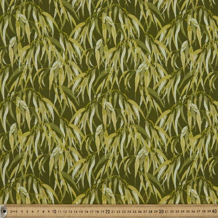 Anne Waters Gum Leaves Cotton Fabric