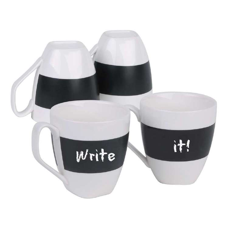 Write It! Set Of 4 Coffee Cups