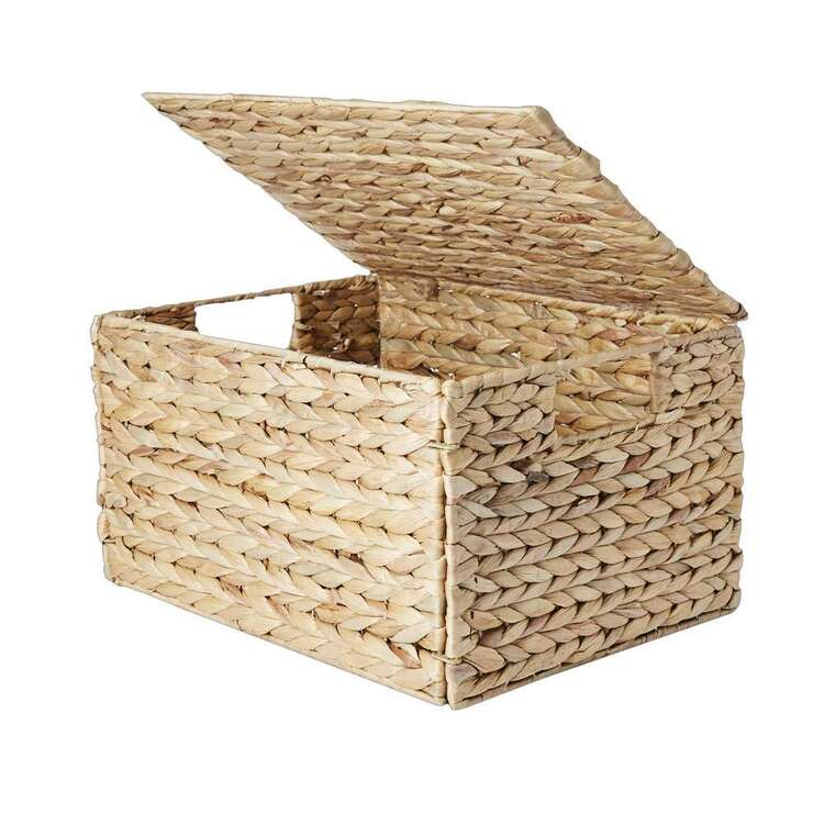 Living Space Collapsible Basket With Lid