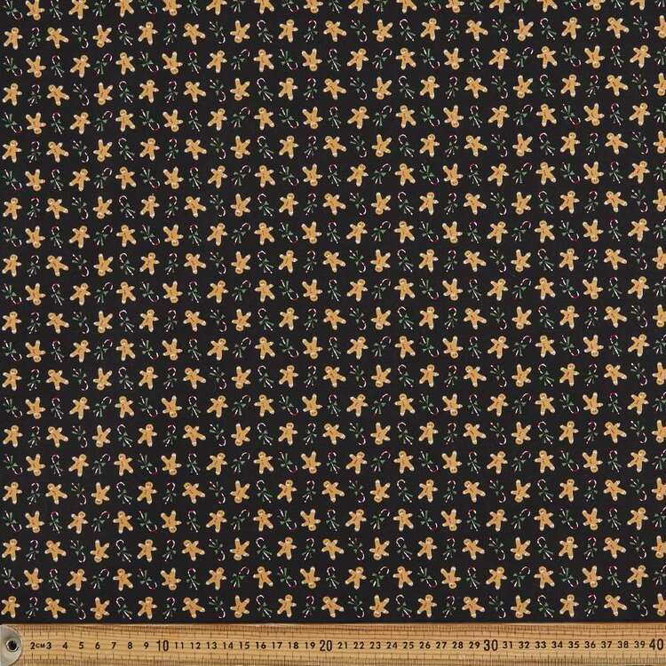 Gingerbread Christmas Cotton Fabric