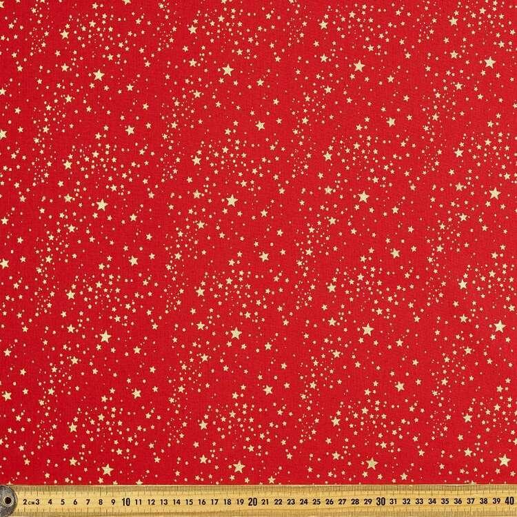 Metallic Christmas Starburst Cotton Fabric