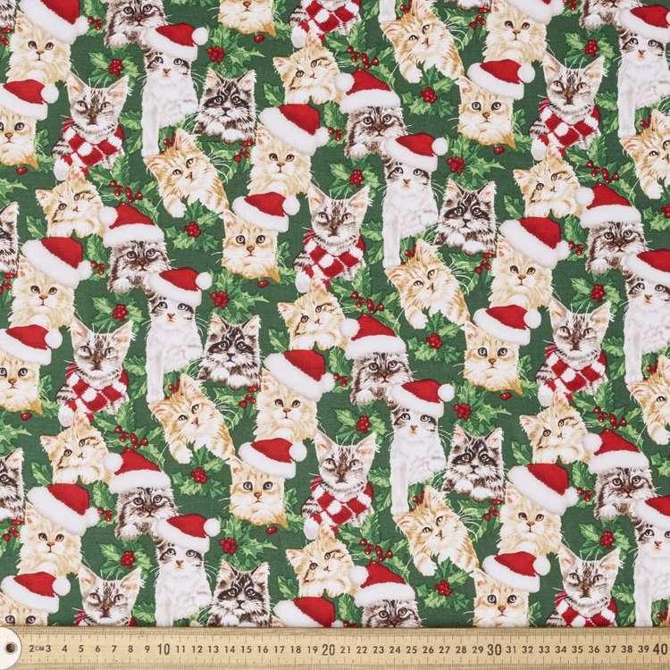 Kitties Novelty Christmas Cotton Fabric
