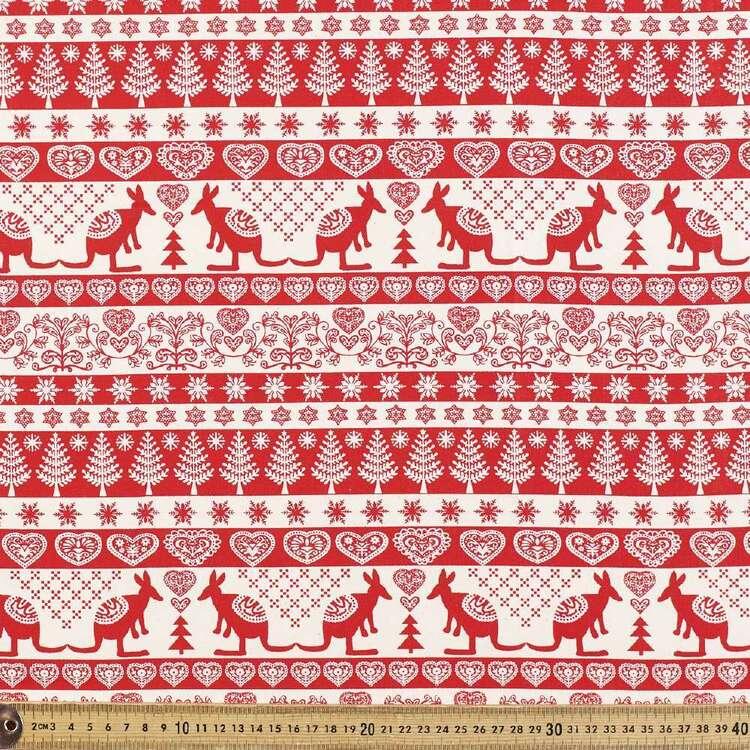 Scandi Stripe Kangaroo Cotton Fabric