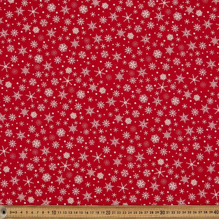 Scandi Snowflake Cotton Fabric
