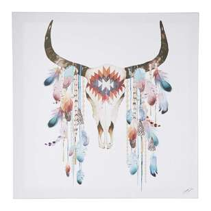 Tag Summer Thornton Tribal Skull Framed Canvas