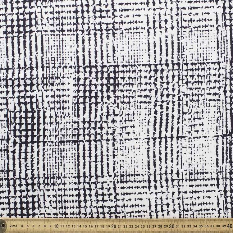 Kyoto Dull Houndstooth Printed 140 cm Sateen Satin Fabric