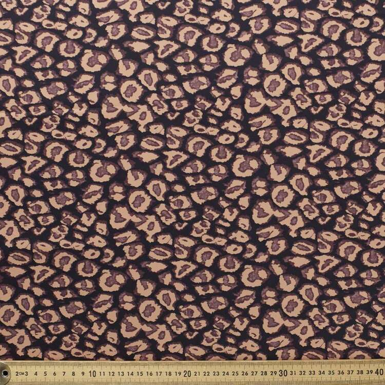 Kyoto Dull Leopard Printed 140 cm Sateen Satin Fabric